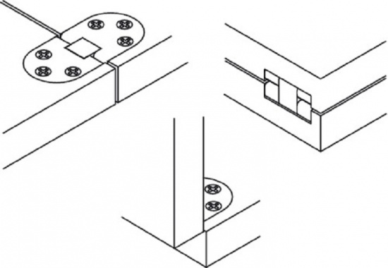 Self Supporting Folding Table Hinge